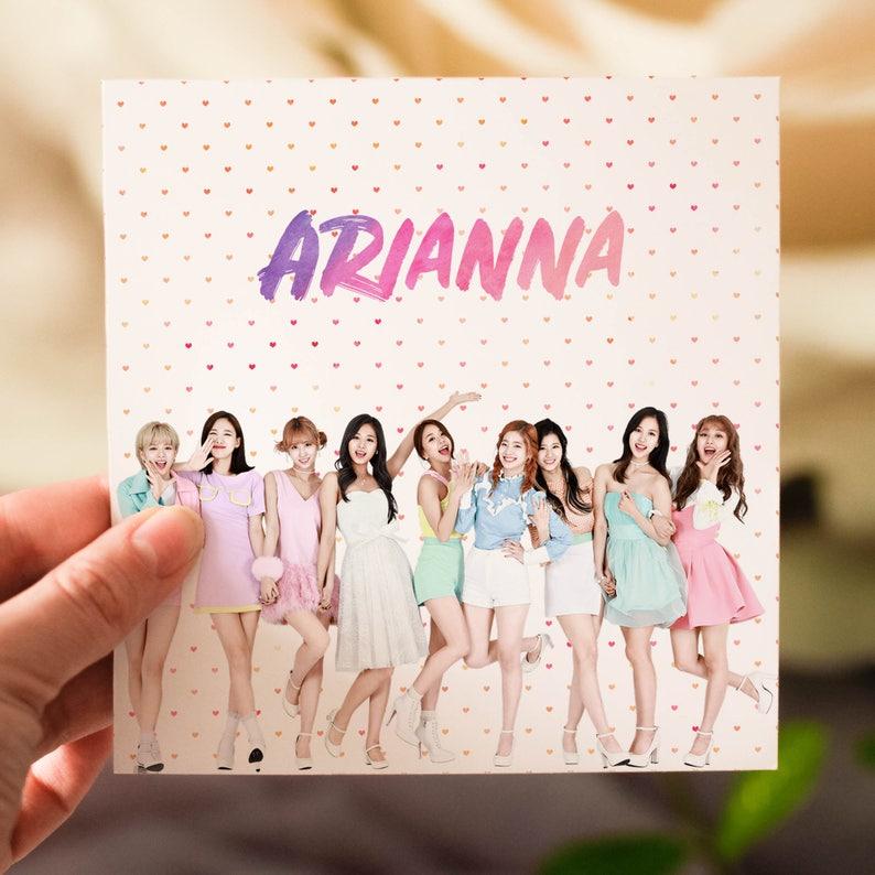 Personalised Twice K Pop Card Etsy