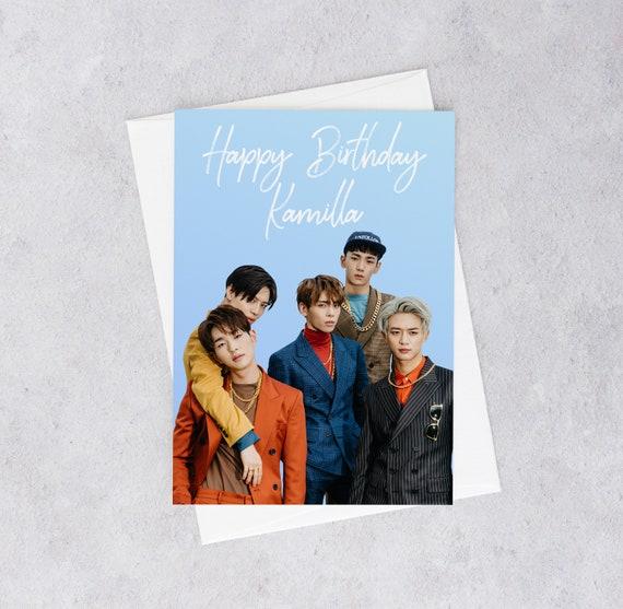 Calendario de escritorio con tarjeta postal Shinee Kpop