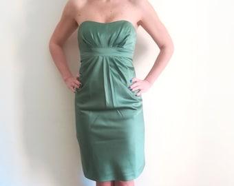 Woman ALFRED ANGELO DRESS Prom Dress Sweetheart Mini Dress Paris Green Ceremony Dress sz. 40