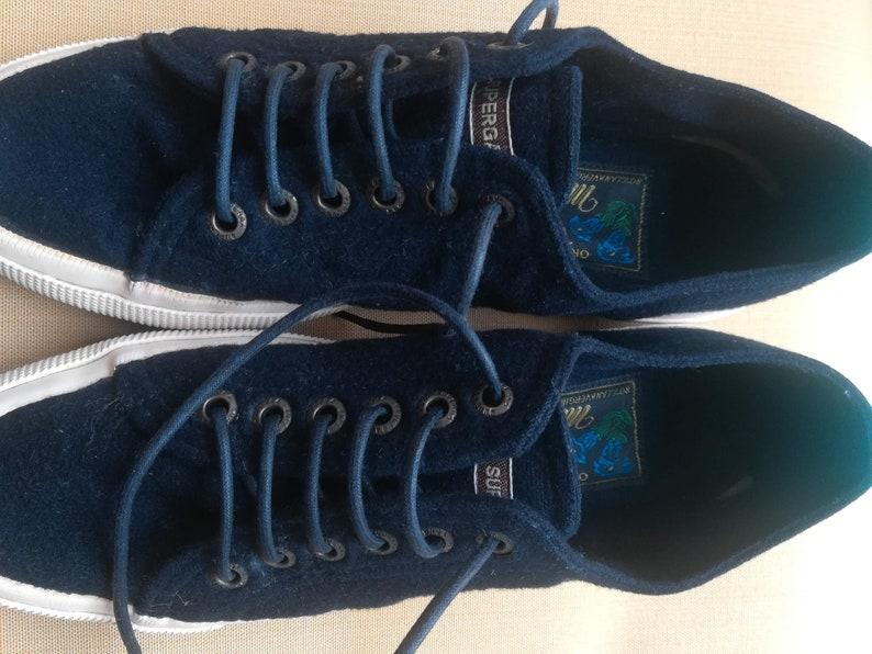 149544904e74b SUPERGA MOESSMER Tennis SHOES Vintage 80 Woman Lace Up Tennis Shoes Virgin  Wool Alpaca Sneakers 'Original Tiroler Loden' sz. 38