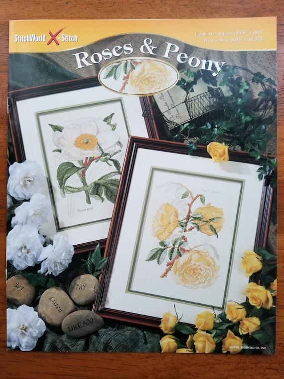 StitchWorld Roses /& Peony X-stitch Chart