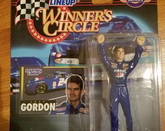 Jeff Gordon figure with collector card