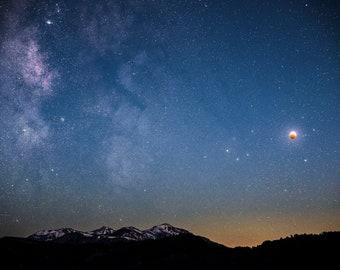 Super Flower Blood Moon Eclipse   Sierra Nevada, California