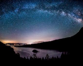 Milky Way Over The Bay   Emerald Bay, Lake Tahoe, California