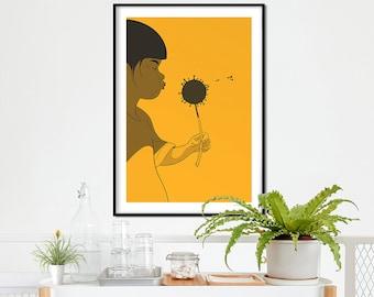 Dandelion ! Limited edition ! Illustration art print.