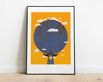 Atlas. Illustration art print.