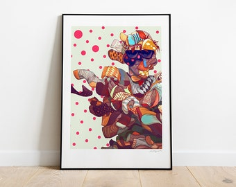 Utopia. Illustration art print.