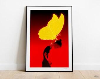 Gift. Illustration art print.