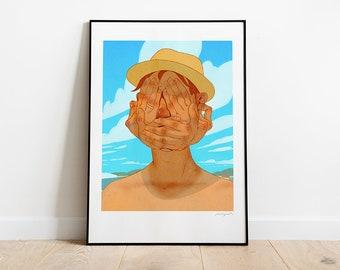 Palmer. Illustration art print.
