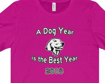 Golden Retriever Year Of The Dog  T Shirt - A Dog Year Is The Best Year Starring A Golden
