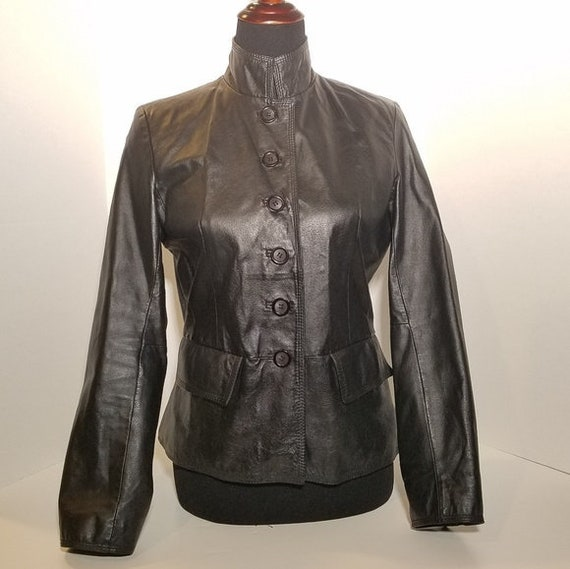 Vintage Chadwick Leather Coat, Black Leather Jacke