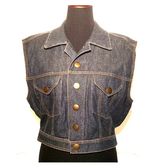 Jan Barboglio Denim Vest, Denim Vest, Blue Denim V