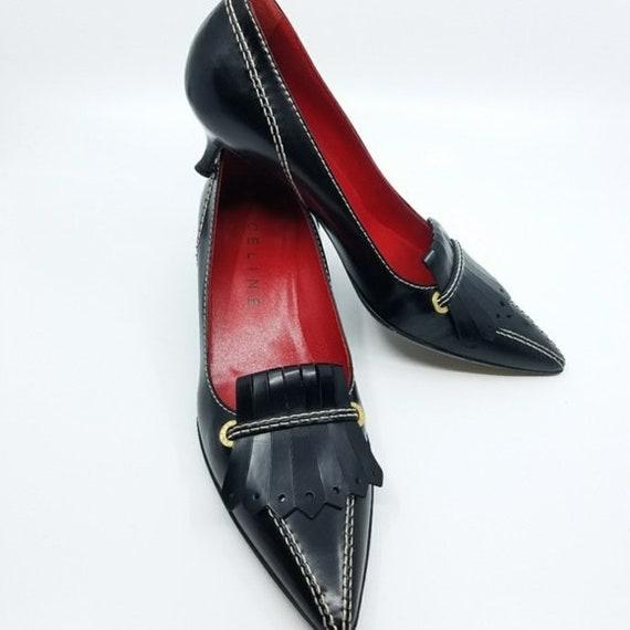 Vintage CELINE Shoe, Pointed Toe, Vintage Heels, D