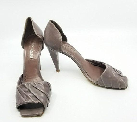 Vintage Italian Deni Cler Shoe, Square Peep Toe, V