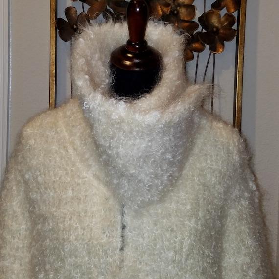 Boucle Mohair Coat, Winter Coat, Heavy Coat, Class