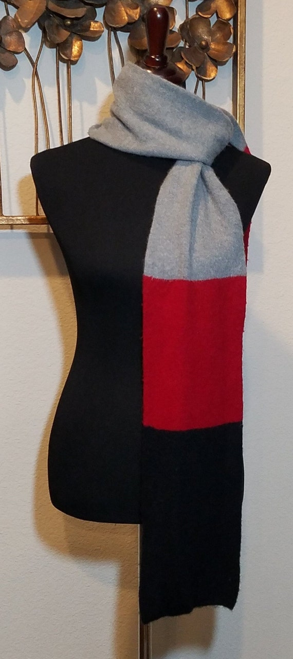 Men's Color Block Scarf, Men's Scarf, Classic Coat