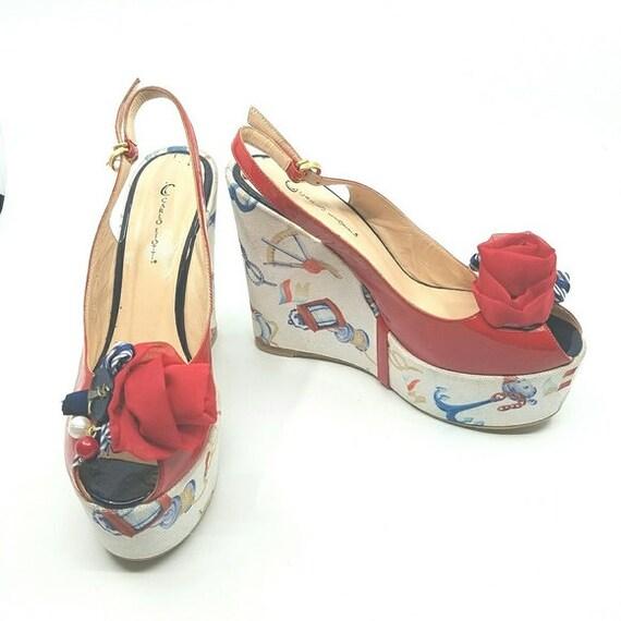 Vintage Carlo Liotti Shoes, Handmade Shoes, Nautic