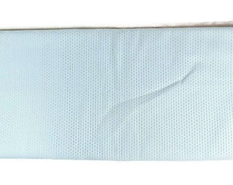3 1/8 Yards Vintage Eyelet Fabric- Light Blue- 3 1/8 Yards by 44 Inches Wide- 1960s