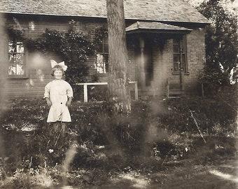 Antique Real Photo Postcard Child Portrait