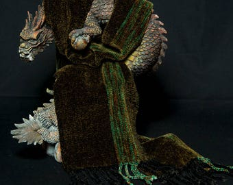 Hand Woven Rayon Chenille Scarf