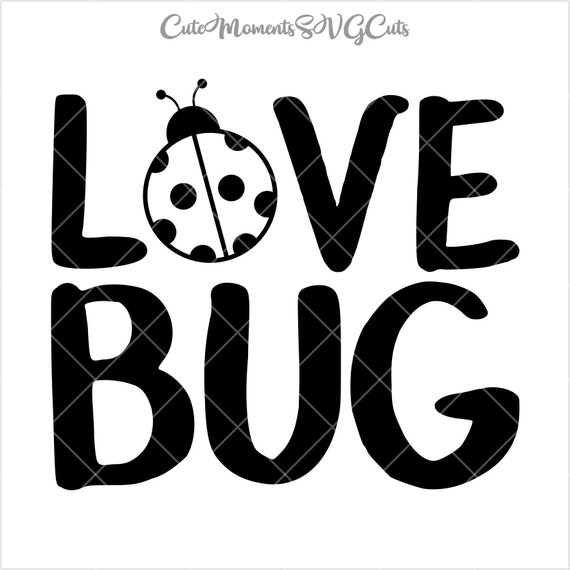 Download Love Bug Cutting File Bug Love SVG Love bugs Instant | Etsy