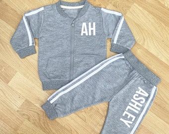 PERSONALISED Initials and Name Bolder Baby & Kids Tracksuit Set, baby tracksuit, kids tracksuit, baby outfit, kids outfit, baby gift