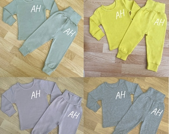 Personalised Initial and Est Baby All in one Tracksuit Baby Gifts Toddler