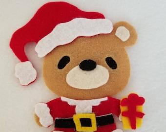 Santa bear catnip toy