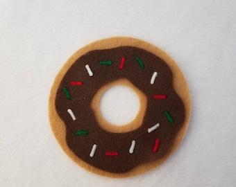 Chocolate Donut catnip toy