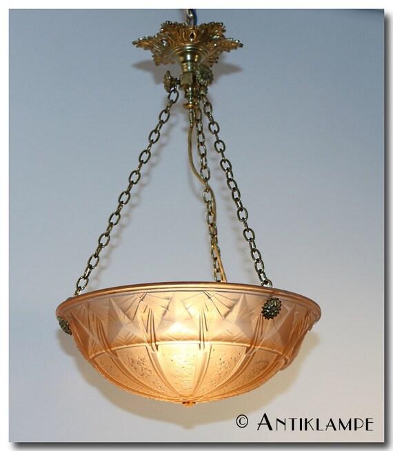 antike Art Deco Lampe, Muller Freres Frankreich
