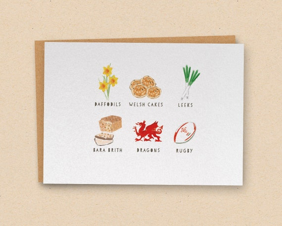 All Things Welsh Daffodils Welsh Cakes Leeks Bara Brith Etsy