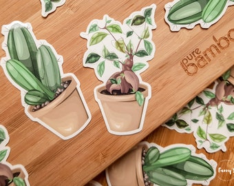 Lot Stickers Plant Lover