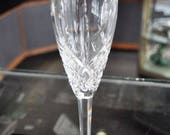 Vintage Waterford Crystal Lismore Silver Rimmed Champagne White Wine Flute Glass