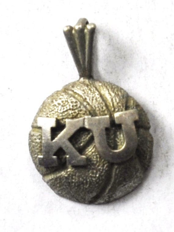 18mm x 13mm 925 Sterling Silver Yellow Gold-Plated Official University of Kansas Small Pendant Charm