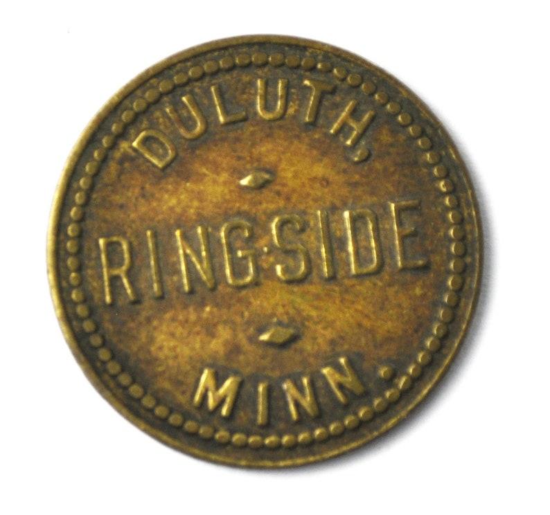 Ringside Billiards and Cigars Duluth Minnesota Trade Token 5c 20mm