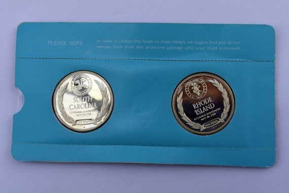 Franklin Mint States of The Union Sterling Rhode … - image 2