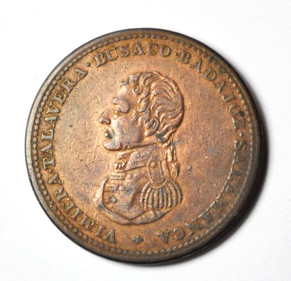 1813 Wellington Cossack Penny Token 34mm Rare Bret