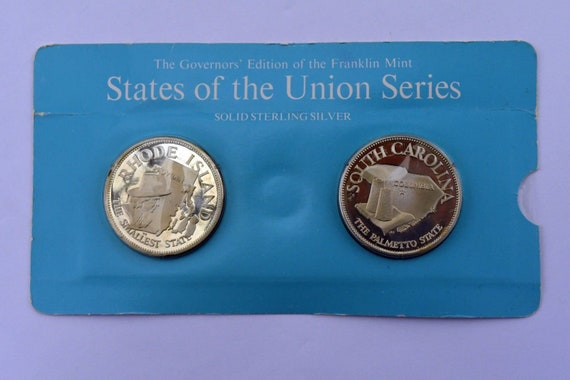 Franklin Mint States of The Union Sterling Rhode I