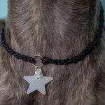 CUSTOM Vegan ID Tag/House Collar (Black Waxed Cotton)
