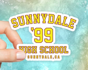 Sunnydale High School Sticker, Buffy Vampire Slayer, Funny Stickers, Tumblr Stickers, Laptop Stickers, Car Stickers, Vinyl Stickers, S208