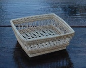 Square Petite Caning Rattan Mesh Tray 6 quot