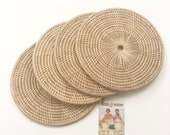 Handmade In Cambodia Natural Rattan Kitchen Dining Table Countertop Tabletop Hotplate Coaster Trivet Placemat - 6 39 Small