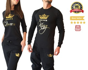 king and queen couple set matching couples king queen shirt pants couple pajama couples set king queen sets matching couple loungewear pjs