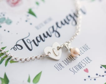 Armband Für Trauzeugin,brautschwester,brautjungfer Hochzeitschmuck Handarbeit Bestellungen Sind Willkommen. Braut-accessoires Kleidung & Accessoires