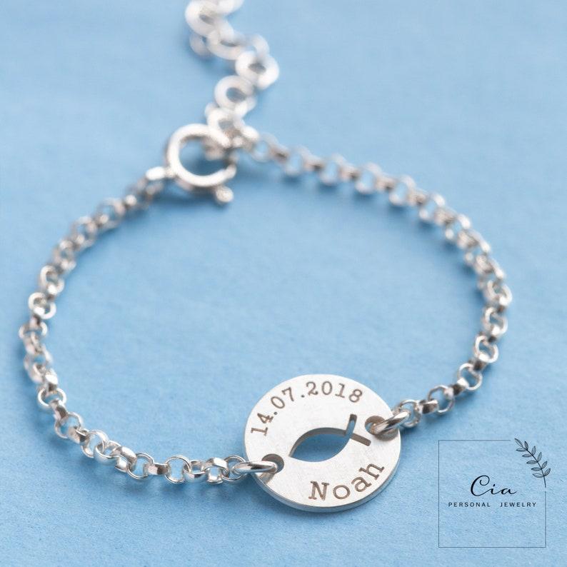 Babyarmband Kinderarmband Armband mit Name Namensarmband Taufarmband Geschenk