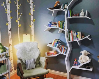Beautiful White Tree Bookshelf