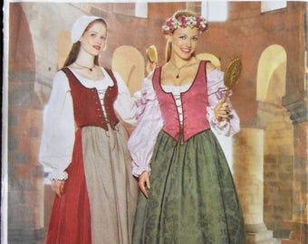 296ae4eba83 Medieval dress pattern. Medieval serving girl costume pattern. Renaissance  Fair dress costume pattern. Sizes 6-10. Uncut