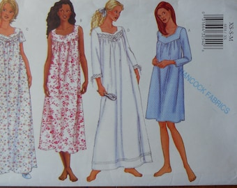 Butterick 6838. Misses nightgown pattern. Nightgown pattern. Heirloom nightgown  pattern. Size XS ec424e656