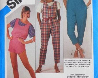 0680b375022 Misses jumpsuit pattern. Vintage 1984 jumpsuit and romper pattern. Jumpsuit  and top pattern. SZ 10-14. Uncut