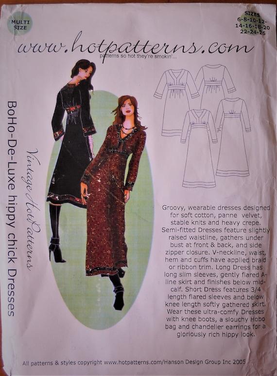 Hot Patterns BohoDeLuxe Hippy Chick Dresses Hippie Dress Cool Hot Patterns